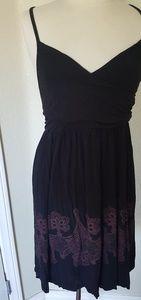 Retro sundress black red mandala goth 1x xl dress